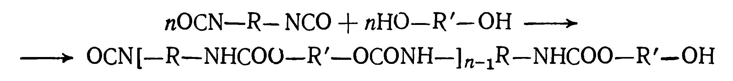 Реакция получения полиуретана